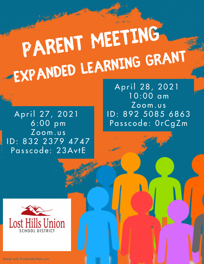 Parent Meeting Expanded Learning Grant