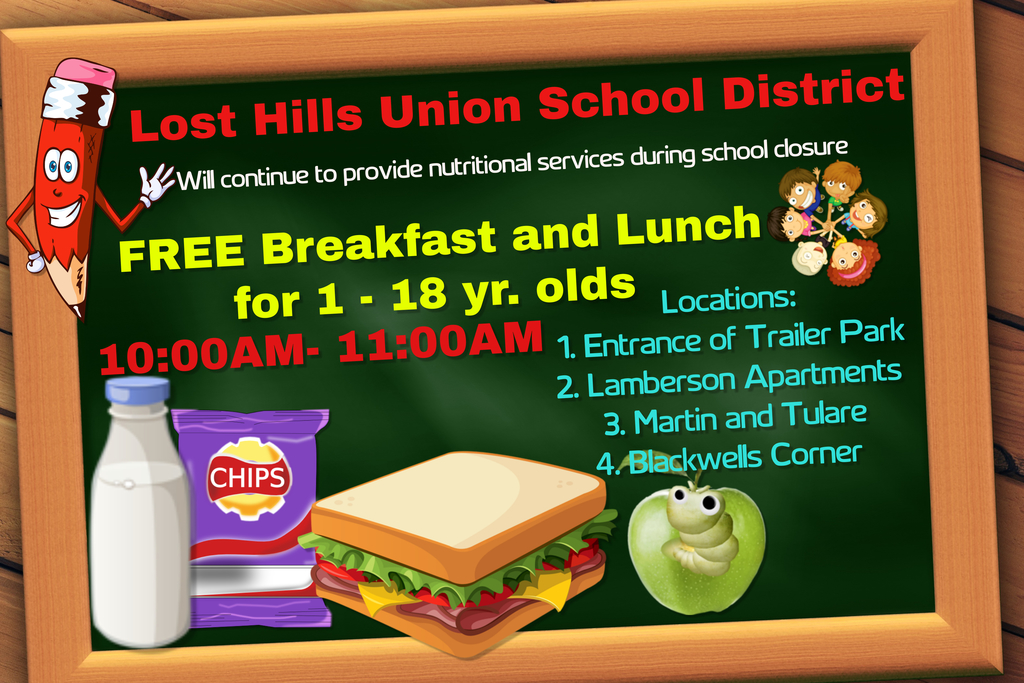 free breakfast and lunch flyer