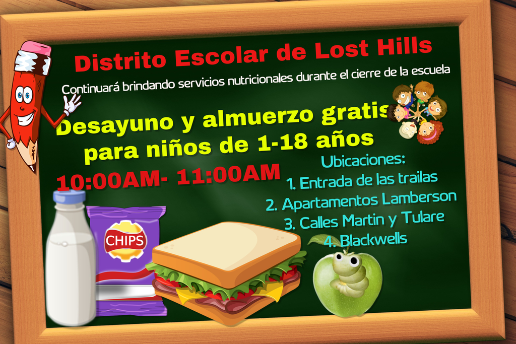 free breakfast and lunch flyer spanish