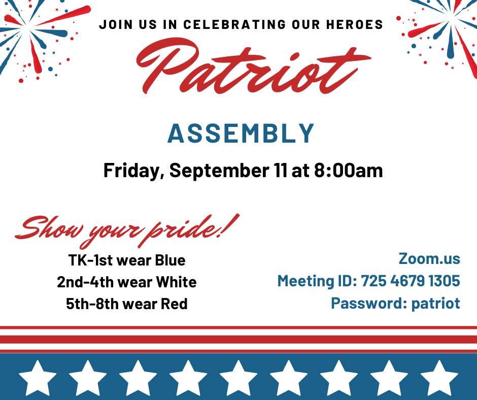 Flyer for Patriot's Day